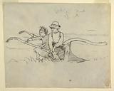 Boy and Girl Seated on a Plough