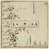 Design for Gile, pattern 1757 of the Fabrique de St Ruf