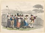 """Saltarello Romano,"" Dancing Peasants In The Neighborhood Of Rome"