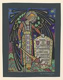 Design for Stained Glass Memorial Window to Thomas J Post
