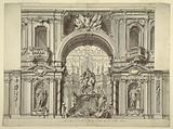 Design of Wall Decoration and Equestrian Monument for Law Courts, Naples, Italy