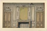 Design for the elevation of a chimney wall of a salon