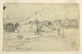 Fishermen Beaching a Dory
