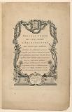 """Title Page, from """"Nouveau Traité des Cinq Ordres d'Architecture"""""""