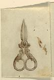 A Pair of Scissors with Handles Formed by Half-figures of Women with Rinceaux as Legs
