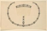 Design for a Comb, Earring and Necklace