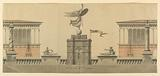 Design for a Monument Commemorating Systematization of Weights and Measures in France