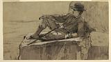 """Study for """"Mountain Climber Resting"""""""