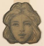 Head of a Woman (Project for Stained Glass)