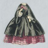 Paper Doll Costume in Black over Checked Pink Skirt