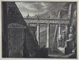 Stage Design, Courtyard of an Egyptian Temple
