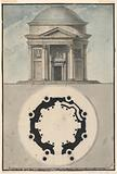 Design for a Domed Classical Temple with Portico