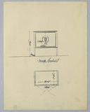 Elevation and Plan of Music Cabinet with Inlay