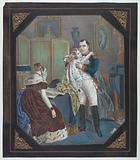 """""""Tinsel Picture"""": Napoleon and Empress Marie-Louise with the King of Rome"""