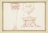 A Vase, and a Lamp on a Stand, in Dessins d'Ango Ornements et Architecture