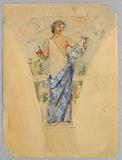 """Personification of """"Ceramics,"""" Study for the Dome of the Manufacturer's Building, World's Columbian Exposition, Chicago, IL"""
