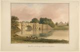 West View of Bridge at Blenheim Oxfordshire
