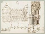 Design for a Fountain Supported by Dolphins and Two Dogs