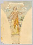 """Personification of """"Metalwork,"""" Study for the Dome of the Manufacturer's Building, World's Columbian Exposition, Chicago, IL"""