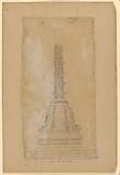 """""""Detail de la base des mats places sur le pont-neuf en Juillet 1838"""""""