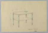 Design for Serving Table on Stop-Fluted Legs