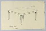 Design for a Six-Legged Rectangular Dining Table of Mahogany