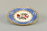 Plate with Flowers and Violet Border