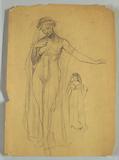 Study of Veiled Nude Figure