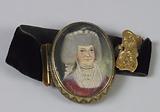 Portrait miniature set on a bracelet