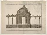 "Garden Pavilion and Latticed Gallery with an Alternative Design from the publication ""L'Art de Treillageur ou menuiserie des jardins"""