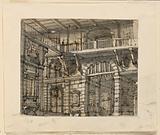Stage Design, Interior of Prison Court