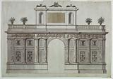 Project for an Elevation of Garden Architecture (Entrance to a Villa or Garden)