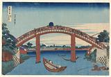 Under Mannen Bridge at Fukagawa,(Fukagawa Manne-bashi no shita) from Thirty-Six Views of Fuji