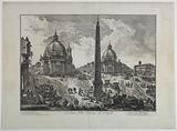 """View of the Piazza del Popolo, Rome from series: """"Vedute di Roma"""", v II"""
