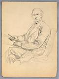 Sketch for Portrait of a Seated Man