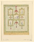 Design for Wall Decoration, Blue (South) Drawing Room, Royal Pavillion, Brighton