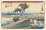 Yokkaichi, River Scene, in The Fifty-Three Stations of the Tokaido Road (Tokaido Gojusan Tsugi-no Uchi)