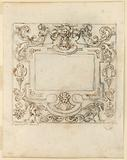 Decorative Frame. Verso: Frieze with Pageant.