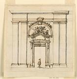 Design for the section of a part of a wall with a doorcase