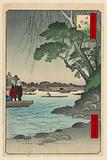 Omnaya Riverbank (Omnya-Gashi) From the Series One Hundred Famous views of Edo