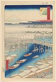 Nihonbashi, Clearing Weather after Show (Nihon-bashi, yuki-bare) From the Series One Hundred Famous views of Edo