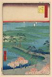 Former Hachiman Shrine, Sunamura (Sunamura Moto-Hachiman) From the Series One Hundred Famous views of Edo