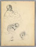 Madonna and Child, Sketches after Leonardo Da Vinci and Fra Bartolomeo of Works in the Uffizi, Florence