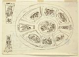 Oval Ceiling with Three Graces, Design for Sala di Enea, Palazzo Marescalchi, Bologna