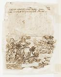"Recto: Minerva, or ""Arma"" (Allegory of the Art of War), preliminary design for"