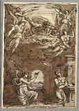 The Annunciation, Study after Innocenza da Imola