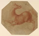 Study of a Rearing Horse after Leonardo da Vinci