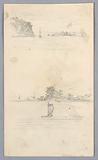 Two Sketches of Sailboats Sailing