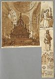 Sketchbook Page, Study after Bolognese Architecture and Monuments, Including Arch of San Domenico