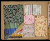 Sample book of woven ribbons